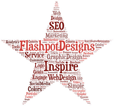 Flashpot Designs Wordcloud